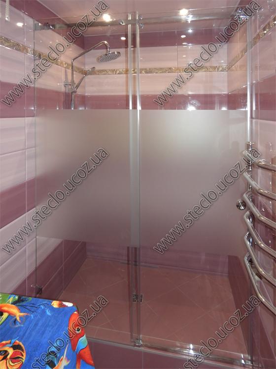 раздвижные стеклянные двери для душа 757